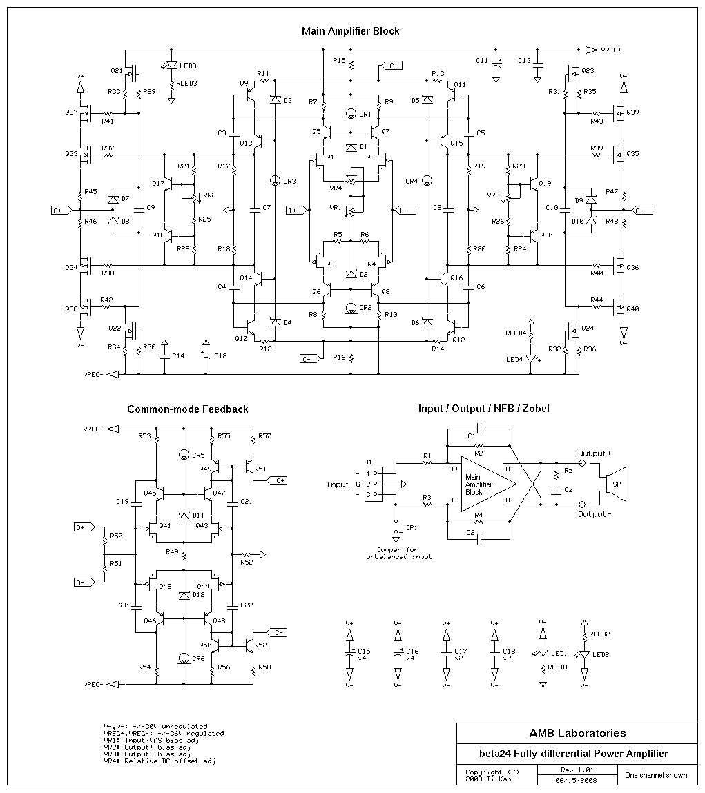 The 24 Fully Differential Power Amplifier Mosfet Circuits